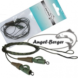 Angel Berger Leadcore Safety Lead Clip Rig fertige Montage - 1