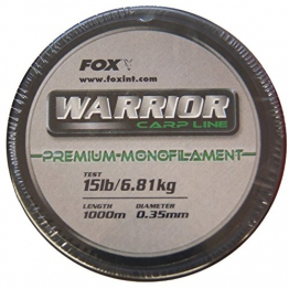 Fox Warrior Karpfenschnur 0,35mm 1000m Schnur grün - 1