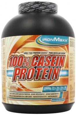 Ironmaxx 100% Casein Protein Neutral, 1er Pack (1 x 2 kg) - 1