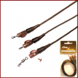 KWICK CHANGE SAFETY LEAD CLIP RIGS - RIG ON TUBE - BROWN - 3 STÜCK / XCP762-BR - 1