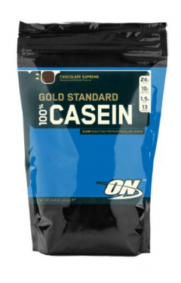 Optimum Nutrition 100% Casein Gold Standard Protein Chocolate, 1er Pack (1 x 450 g) - 1