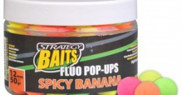 Strategy Baits Fluo Pop Up Boilie 50g Spicy Banana 12mm - 1
