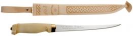 Marttiini Messer Finnisches Filiermesser, Klinge 19 cm, Holzgriff, Lederscheide 903019 - 1