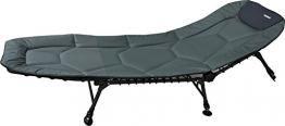 Angelspezi Liege 6-Bein Luxus Comfort Karpfenliege Stahl Bedchair 210X82cm -