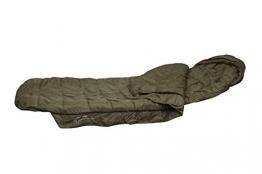 Fox Warrior Sleeping Bag Schlafsack für Angler zum Karpfenangeln & Nachtangeln, Angelschlafsack, Anglerschlafsack Fox Chunk Crew Pouch Sweatshirt Green Marl Pullover -